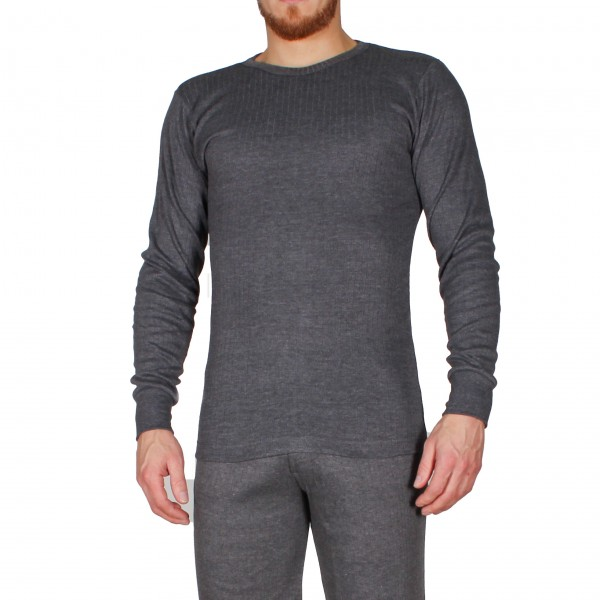 Herren Langarm Thermo Shirt anthrazit