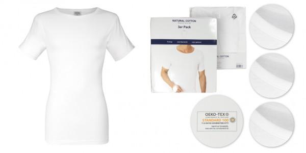 Feinripp-Shirt, 95°C waschbar, im 3er-Pack