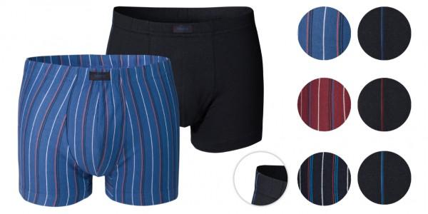 2er Pack Herren Retro Shorts Baumwolle/Elasthan